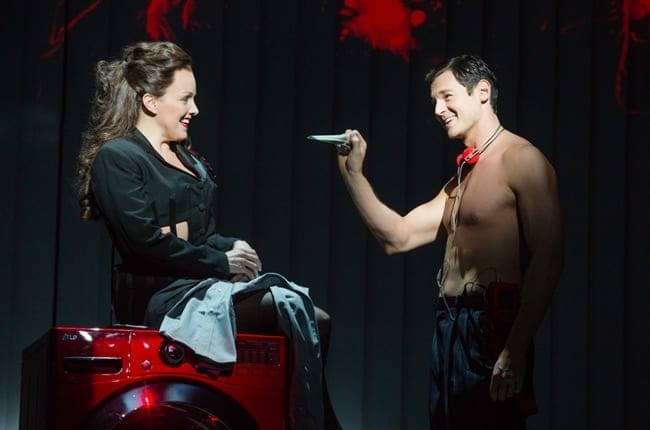 Alice Ripley and Benjamin Walker in American Psycho (Photo: Joan Marcus)