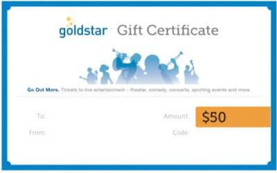 DCTS offers a $50 Goldstar Gift Certificate to launch its first Sunday Giveaway