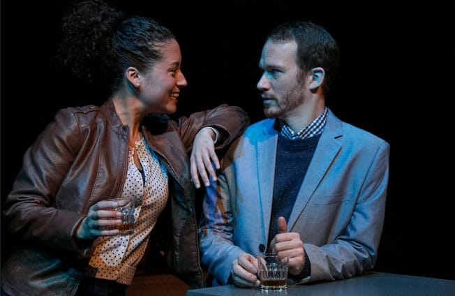 Alina Collins Maldonado as Bess and Rex Daugherty as Jesse in Hunting and Gathering at Rep Stage (Photo: Katie Simmons-Barth)