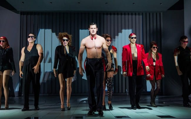 Benjamin Walker. and the cast of American Psycho. (Photo: Joan Marcus)