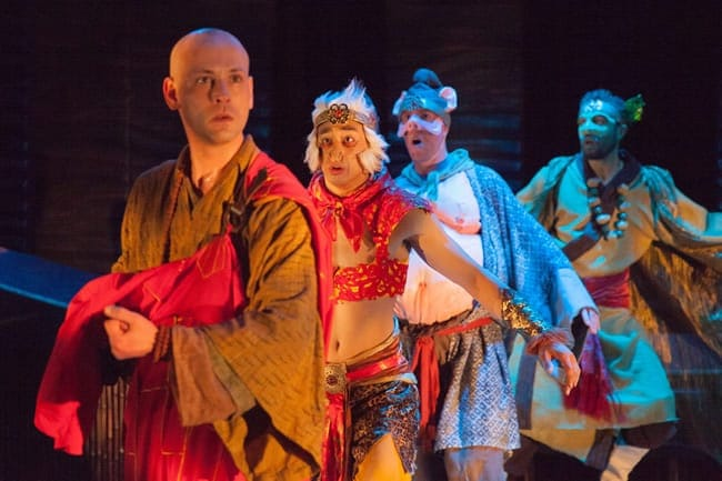 (l-r) Ashley Ivey, Dallas Tolentino, Ryan Tumulty, Michael Kevin Darnall in Journey to the West, Constellation Theatre (Photo: DJ Corey)
