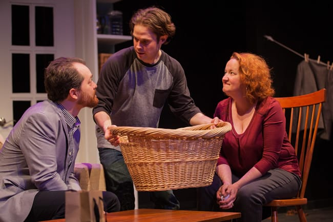 (l-r) Colin Hovde, Robert Bowen Smith and Kerri Rambow, in a word at Hub Theatre (Photo: DJ Corey Photography)