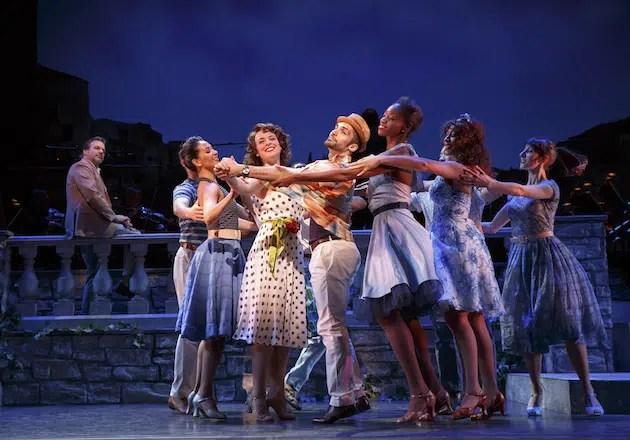 Melissa Errico and cast of Do I Hear A Waltz? ( Photograph by Joan Marcus)