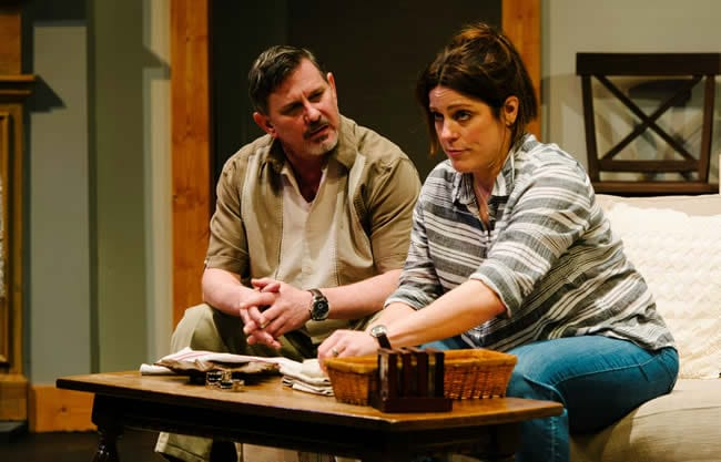 Mark A. Rhea and Susan Marie Rhea in American Daughter at Keegan Theatre (Photo: Cameron Whitman)