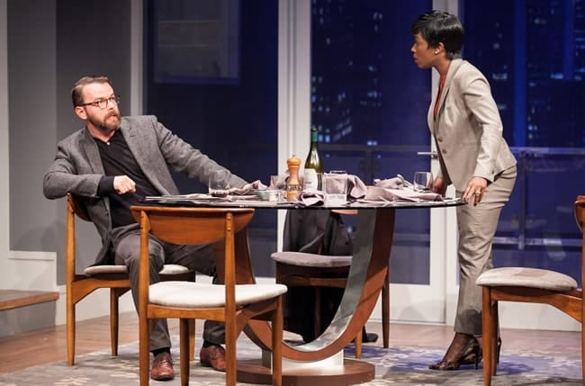 Joe Isenberg as Isaac and Felicia Curry as Jory in Disgraced at Arena Stage at the Mead Center for American Theater (Photo: C. Stanley Photography)