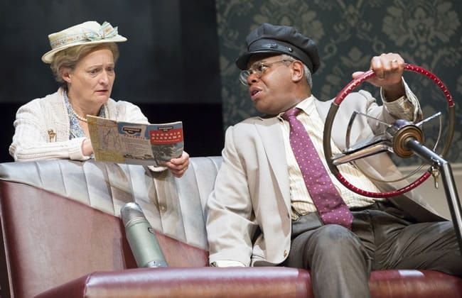 Nancy Robinette as Daisy and Craig Wallace as Hoke in the 2014 Ford's Theatre production of Driving Miss Daisy (Photo: Scott Suchman)