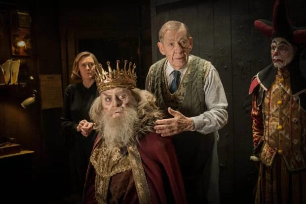 Sarah Lancashire as Madge, Anthony Hopkins as Sir and Ian McKellen as Norman in the BBC Two TV movie The Dresser, now on Starz