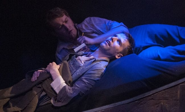 (l to r) Edward C. Nagel and Evan Casey in Floyd Collins at 1st Stage. (Photo: Teresa Castracane)