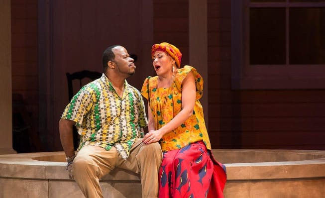 Lester Lynch as Porgy) and Alyson Cambridge as Bess in Porgy and Bess, Spoleto Festival USA. (Photo: Julia Lynn Photography)