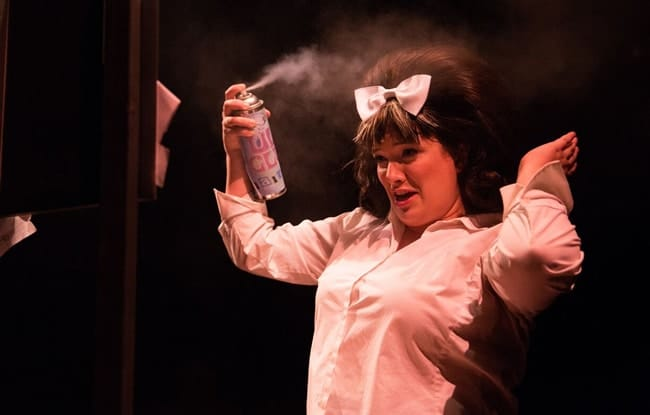 Christie Graham as Tracy Turnblad in Hairspray at Toby's Dinner Theatre (Photo: Jeri Tidwell Photography)