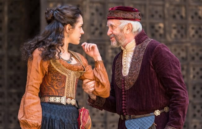 Jonathan Pryce in Globe Theatre's The Merchant of Venice at the Kennedy Center (Photo courtesy of Globe Theatre)