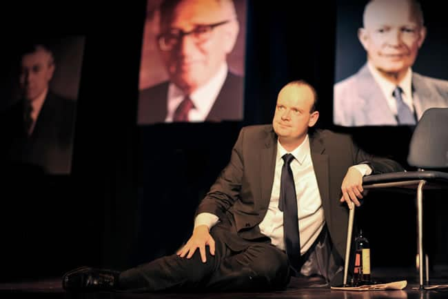 Steve Scott as Richard Nixon in Secret Honor at Capital Fringe