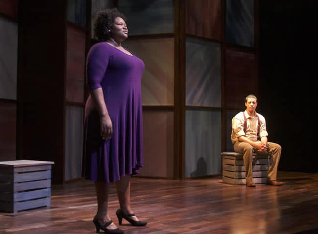 Stori Ayers and Justus Hammond in Yellowman at Anacostia Playhouse