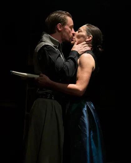 Joe Carlson as Antony and Jessica Lekfow as Cleopatra in Antony and Cleopatra from Brave Spirits Theatre. (Photo: Claire Kimball)
