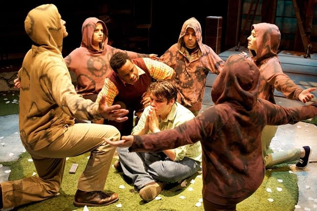 Members of the cast of A Bid to Save the World at Rorschach Theatre (Photo: Ryan Maxwell)