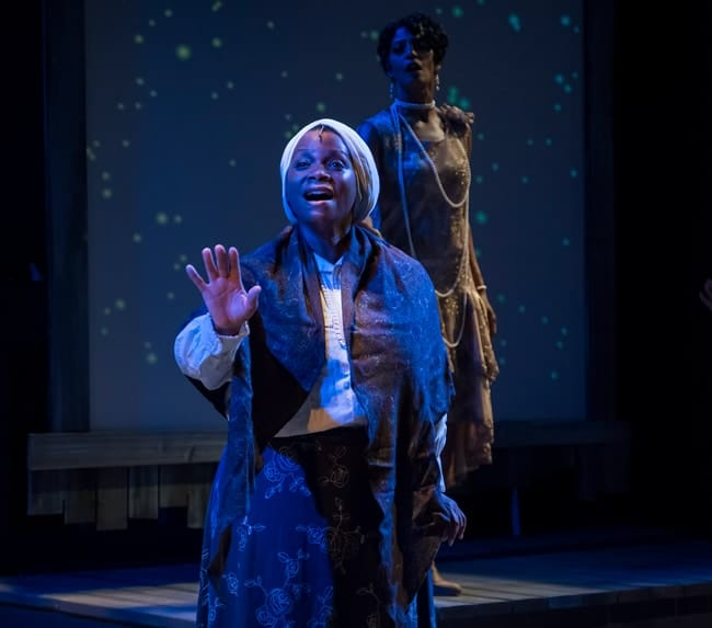 Duyen Washington as Aunty May in Blackberry Daze at MetroStage. Photo: Chris Banks.