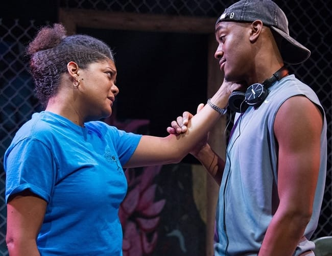 Lolita Marie as Lena and Sideeq Heard as Tray in brownsville song... at Theater Alliance (Photo: C. Stanley Photography)