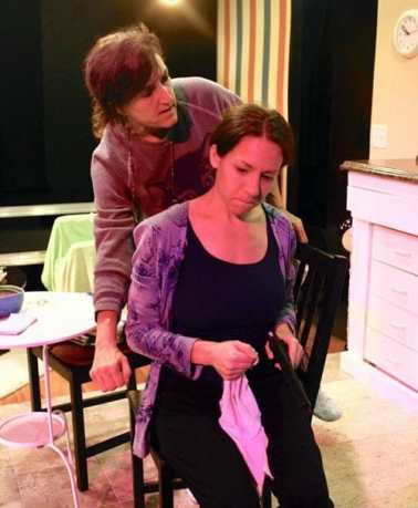 Melissa B. Robinson and Jennifer Berry George in 'Night Mother at Highwood Theatre (Photo: Orion Stekoll)