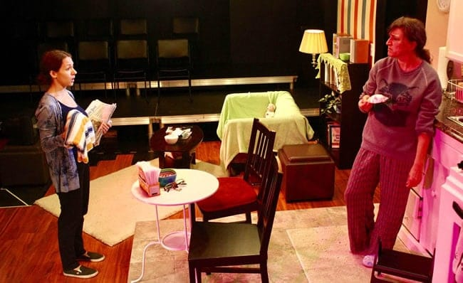 Jennifer Berry George and Melissa B. Robinson in 'Night Mother at Highwood Theatre (Photo: Orion Stekoll)
