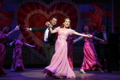 Corbin Bleu and Lora Lee Gayer in Holiday Inn. Photo by Joan Marcus