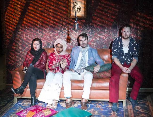 Gabriela Fernandez-Coffey, Shannon Dorsey, Tim Getman, Joe Mallon in Kiss at Woolly Mammoth Theatre (Photo: Teresa Castracane)