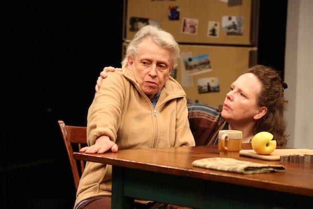Roberta Maxwell and Maryann Plunkett in Women of a Certain Age, Play Three of The Gabriels: Election Year in the Life of One Family. Photograph by Joan Marcus.