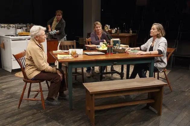 Roberta Maxwell, Amy Warren, Lynn Hawley, and Meg Gibson. Photograph by Joan Marcus