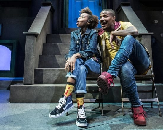 Sonia Denis and Dewayne Perkins in The Second City's Black Side of the Moon at Woolly Mammoth Theatre (Photo: Teresa Castracane)