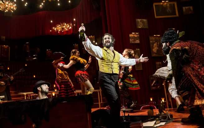 Josh Groban and the cast of Natasha, Pierre and The Great Comet of 1812 (Photo: Chad Batka)