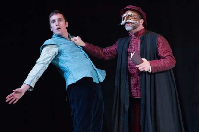 Vince Eisenson and Matthew Pauli in Faction of Fools' The Merchant of Venice. (Photo: Teresa Wood Photography)