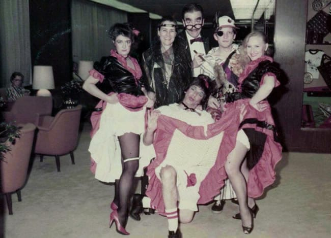 Back in the mid-80s, Source actors went on cruises, providing the entertainment. Richard is in drag up front. Pat Murphy Sheehy is standing second from left.