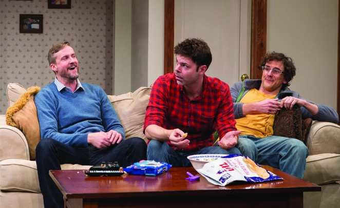Bruch Reed, Avery Clark, and Michael Tisdale in Straight White Men at Studio Theatre. (Photo: Teresa Wood)
