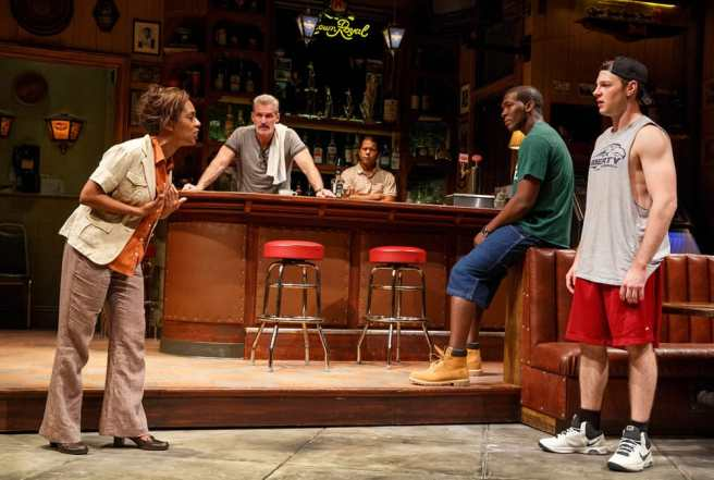 The company of Sweat, written by Lynn Nottage and directed by Kate Whoriskey, running at The Public Theater. (Photo: Joan Marcus)