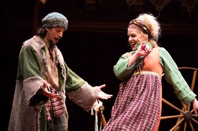 Ryan Sellers and Tonya Beckman in the 2016 production of The Second Shepherd's Play at Folger Theatre (Photo: Brittany Diliberto)
