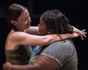 (l-r) Laura C. Harris and Jade Jones in Love and Information from Forum Theatre (Photo: Teresa Castracane Photography)