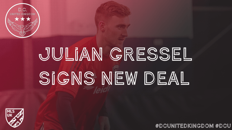 Official: D.C. United and Julian Gressel agree to long-term contract