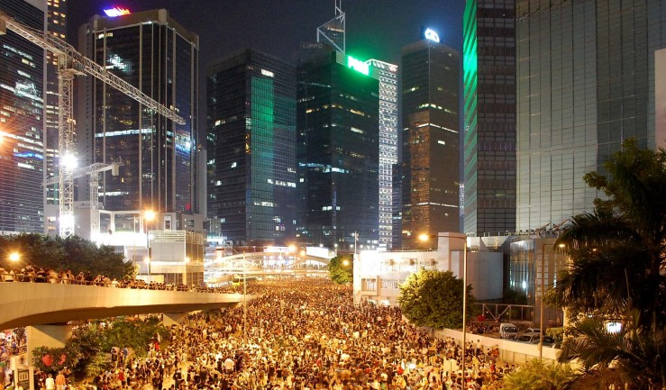 Biểu tình ở Hong Kong. Nguồn: .foreignpolicyjournal.com