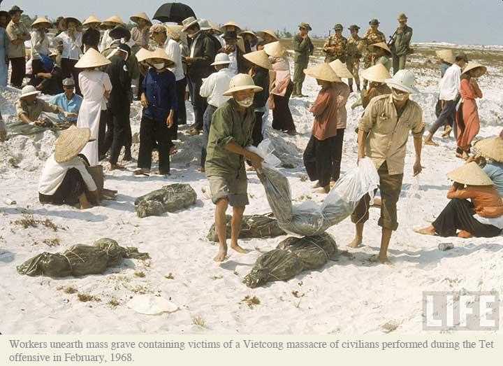Nạn nhân của cộng sản Việt Namtrong cuộc thảm sát Tết Mậu Thân. Nguồn: LIFE