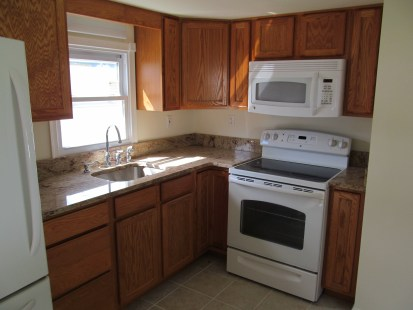 mobile home improvement kitchen range and microwave