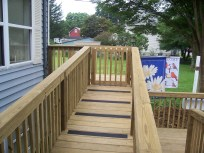 home improvement access ramp closeup