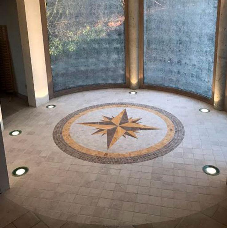 D D Carrelage Concept Rose Des Vents En Mosaique