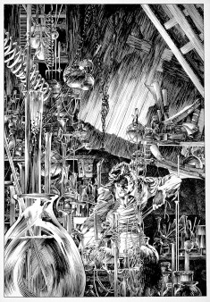 By Bernie Wrightson from Frankenstein (Marvel 1983)