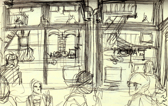sketching in public