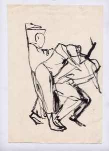 Study of a dancer in motion drawn by Salgood Sam 1998