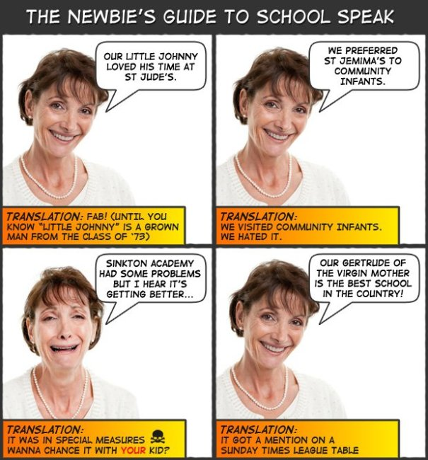 The newbie's guide to school speak