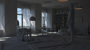 Earlier version with mental ray