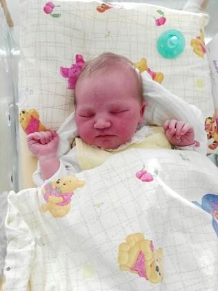 Helena Hope am Tag ihrer Geburt