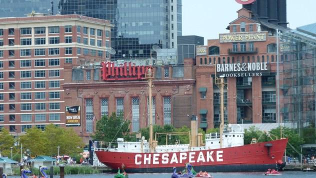 Chesapeake az öböl neve, aminek a partján fekszik Baltimore (és amúgy Maryland nagy része is)