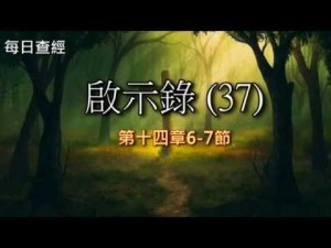 Read more about the article 啟示錄(37)14:6-7