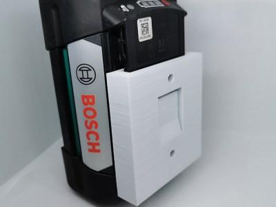 Veggfeste til Bosch batteri (10.8,12,18,36V)